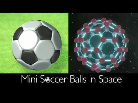¡Mini balones de fútbol en el espacio!