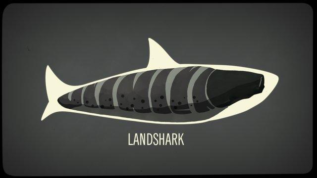 """Fantasía zoológica sobre el """"tiburón de tierra"""""""