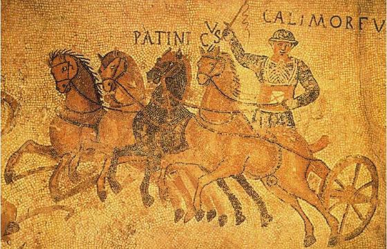 Fragmento del mosaico del circo (Gerunda)
