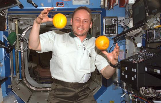 El astronauta Edward M.Fincke en la ISS