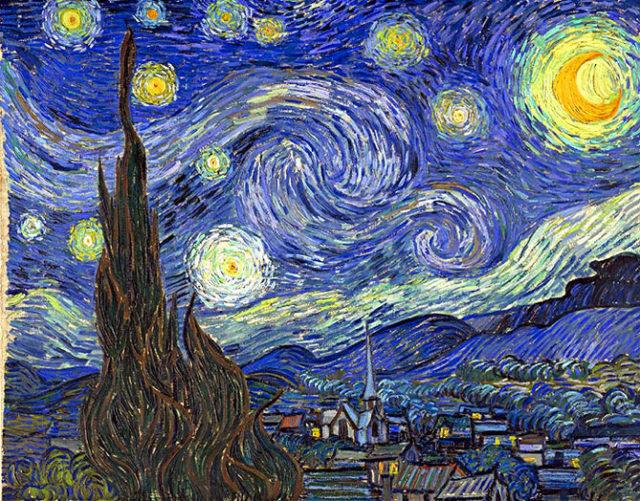 Noche estrellada, Sanatorio de Saint-Rémy. Vincent van Gogh