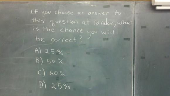 pregunta autorreferente de estadística