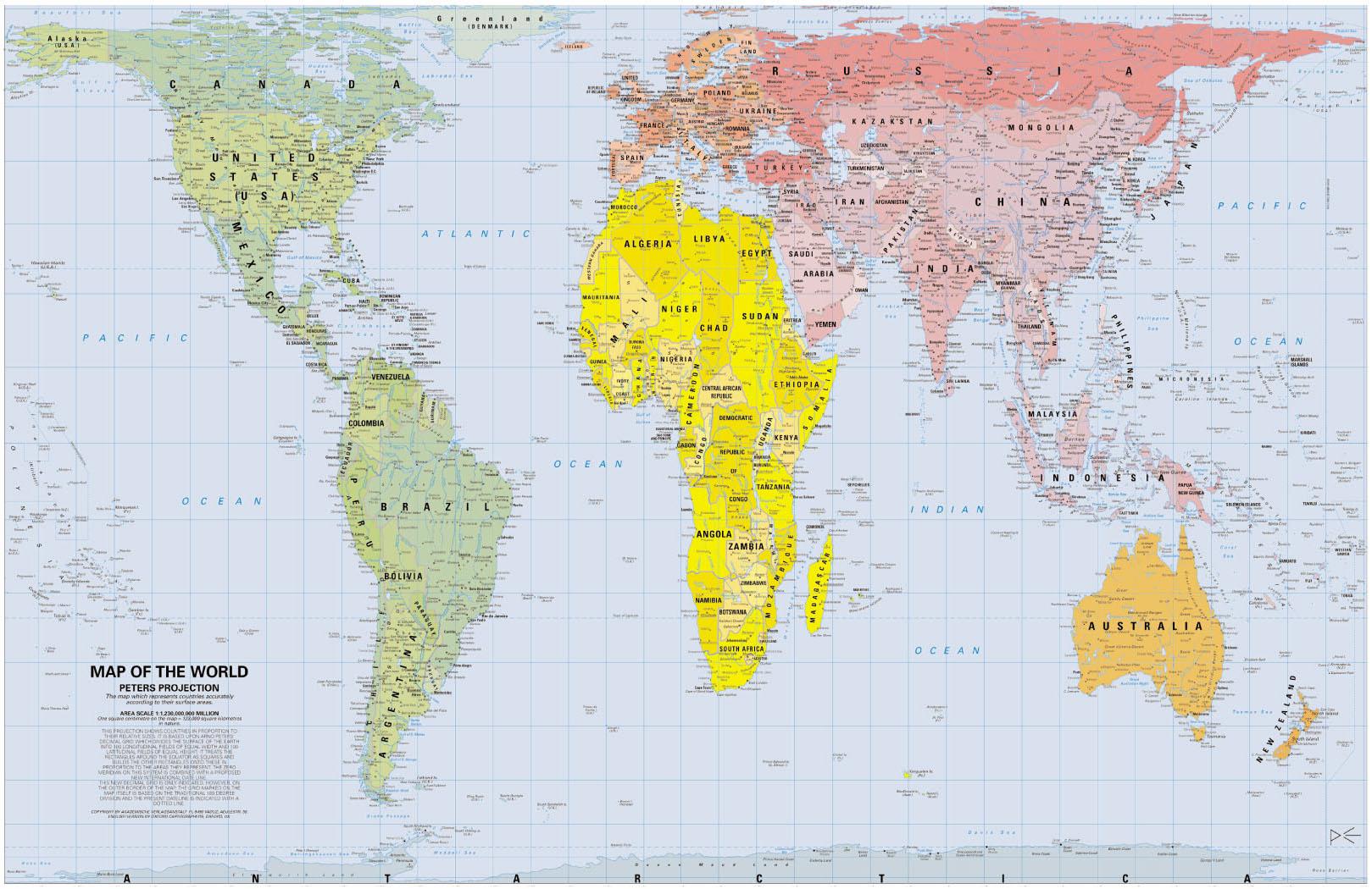 Para Imprimir Mapa Del Mundo Real.La Verdad Sobre El Mapa De Peters Naukas
