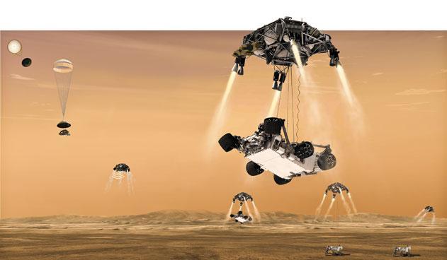 Entrada Curiosity en Marte