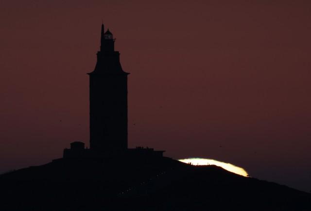 Rayos verde y azul a la puesta de Sol. Autor: Oscar Blanco