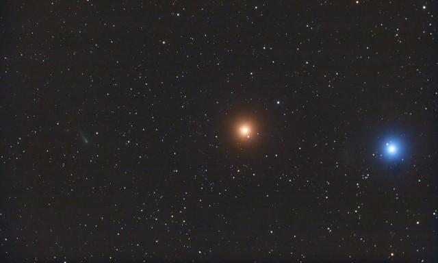 C/2012 S1 (ISON), Marte y Regulus, desde Payson (Arizona), EEUU, 14 de octubre de 2013 | Autor: Chris Schur