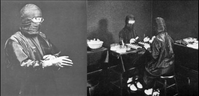 Alexis Carrel, cirujano y premio Nobel, insistía en la importancia de mantener unas estrictas condiciones asépticas para el cultivo de células, y en cubrir absolutamente todo de negro (?!).