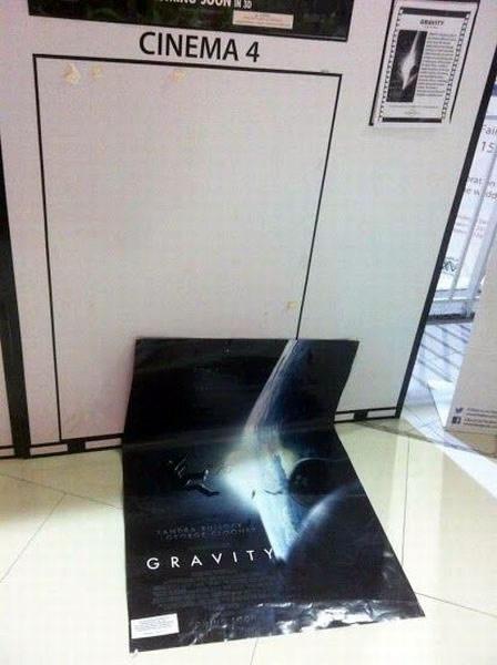 Poster de Gravity vs. Gravedad real
