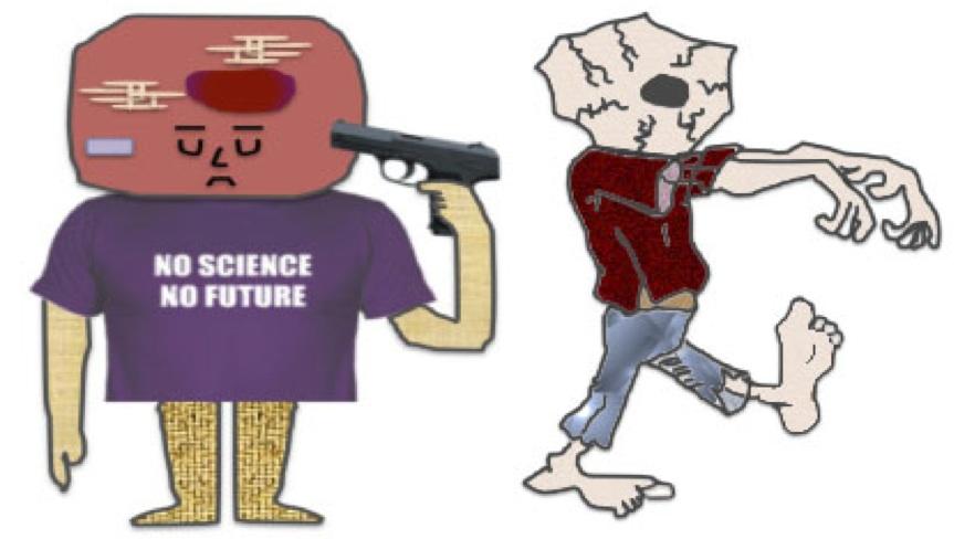 """células """"suicidas"""" versus células """"zombies"""""""