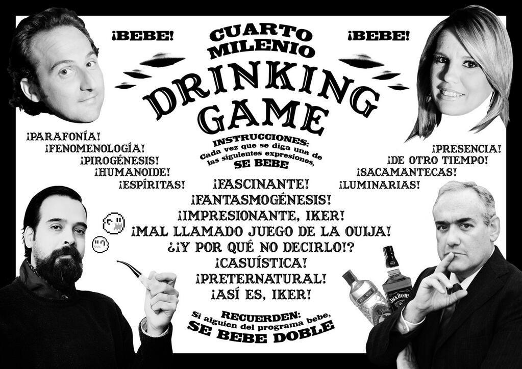 Cuarto Milenio Drinking Game | Twitter | Naukas