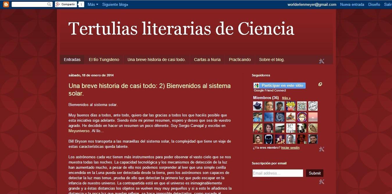 #tertuliasciencia