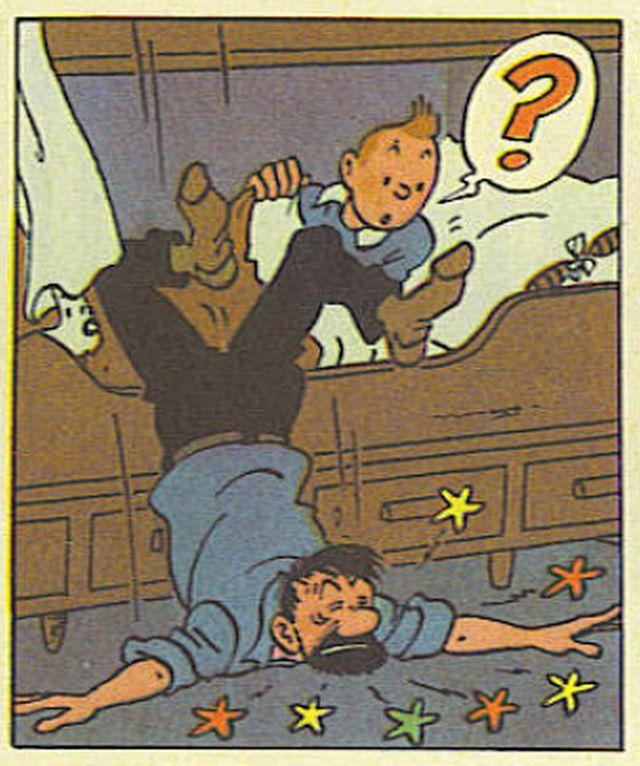Hergé era un maestro dibujando trompazos