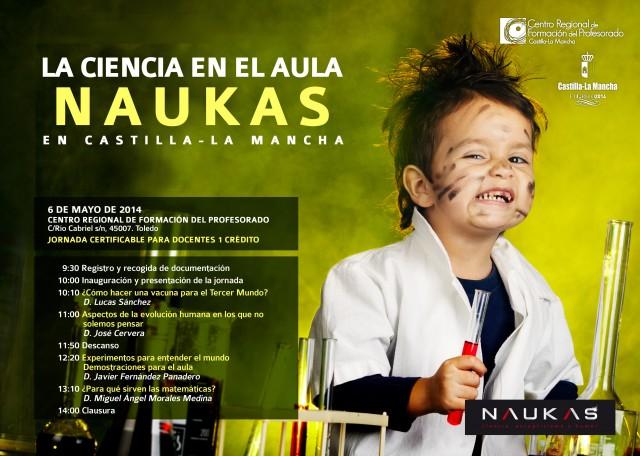 Lucas Sánchez en Ciencia en el aula Naukas en Castilla LaMancha
