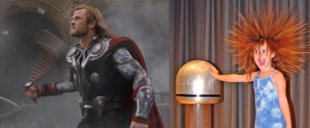 Thor y la electricidad estática... ¿Cómo consigue Thor tener un pelo perfecto en cualquier circunstancia?