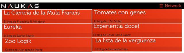 Los primeros 6 blogs de Naukas Network que ya cuenta con X blogs