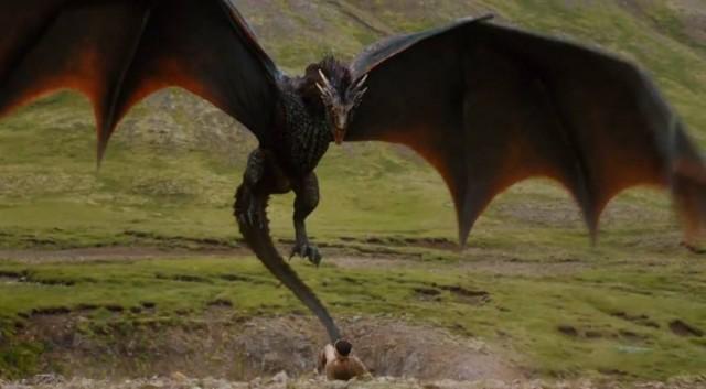 Drogon, uno de los dragones de Daenerys Targaryen. Fuente