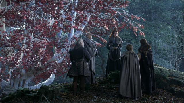 Catelyn Stark y los norteños junto a un arciano. Fuente