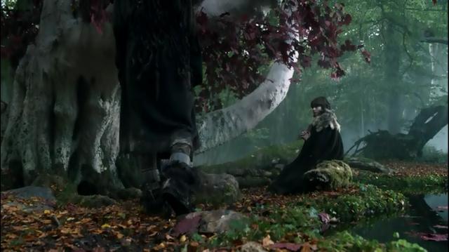 Bran Stark rezando en el arciano de Invernalia. Fuente