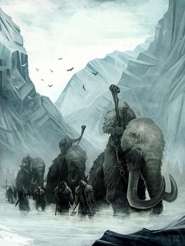 Gigante sobre mamuts. Fuente