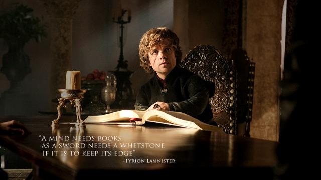Tyrion Lannister leyendo. Fuente