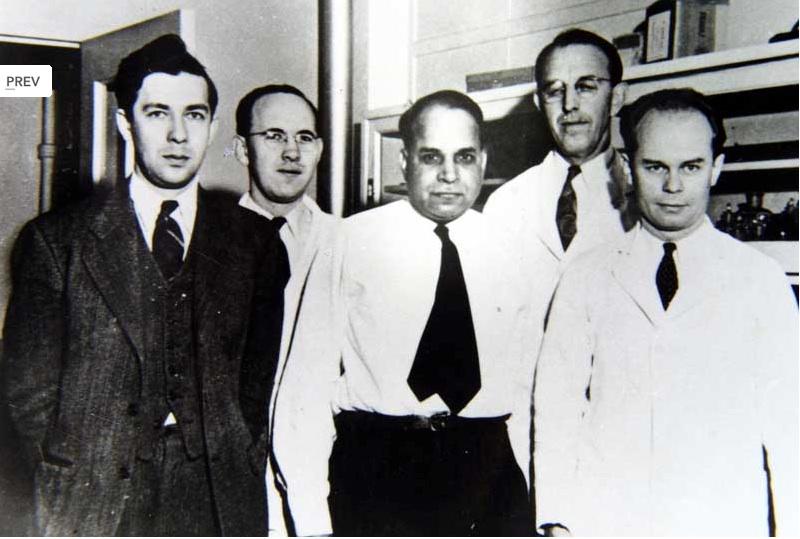 El químico de origen hindú, Subbarao, descubridor (entre otros) de los antifolatos con su equipo de la farmacéutica Lederle