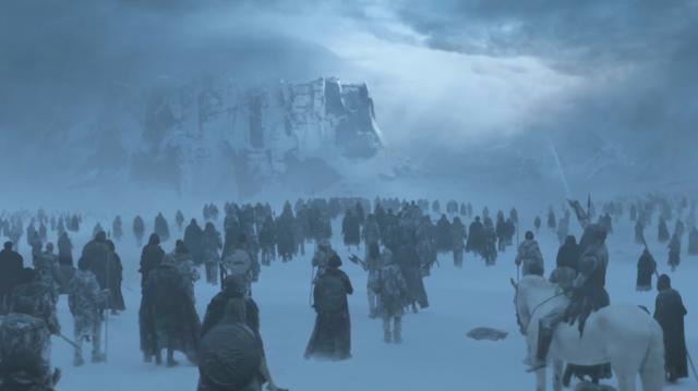 Un ejército de zombis en Juego de tronos. Fuente