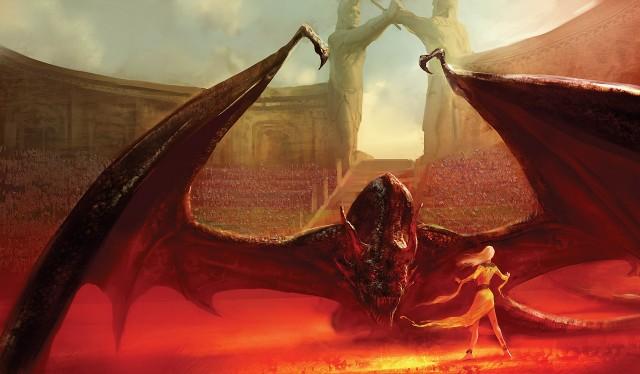 Fuego de dragón en las arenas de Mereen. Fuente