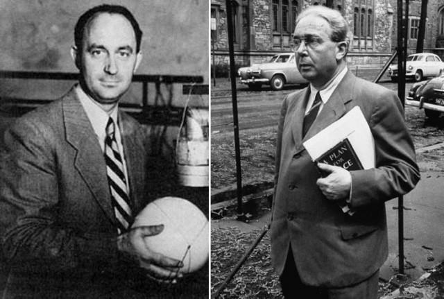 Enrico Fermi (izqda.) y Leo Szilard (dcha.)