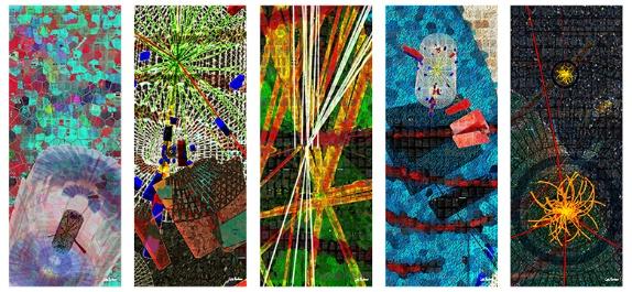 """In search of the Higgs boson,"" digital art, Xavier Cortada."