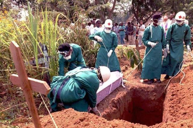 Enterramiento de un fallecido por infección por virus Ébola