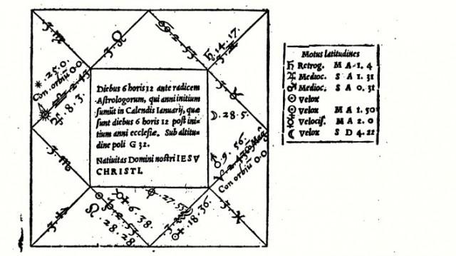 Horóscopo de Jesucristo realizado por Gerolamo Cardano [bryanchristian]