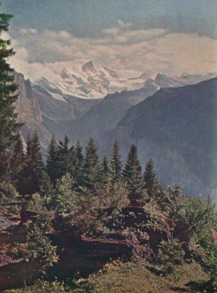 Un paisaje suizo hacia 1911.