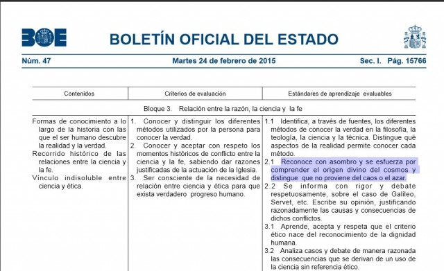 Resoluciones (1849 y 1850) de la Dirección General de Evaluación y Cooperación Territorial, por las que se publica el currículo de la enseñanza de Religión Católica de Bachillerato