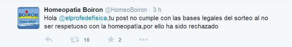 Concurso Boiron tuit 4