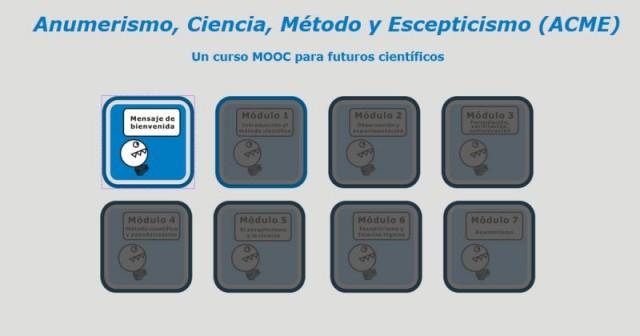 Curso MOOC sobre Anumerismo, Ciencia, Método científico y Escepticismo