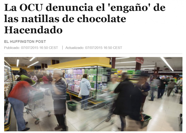 Chocolate prensa
