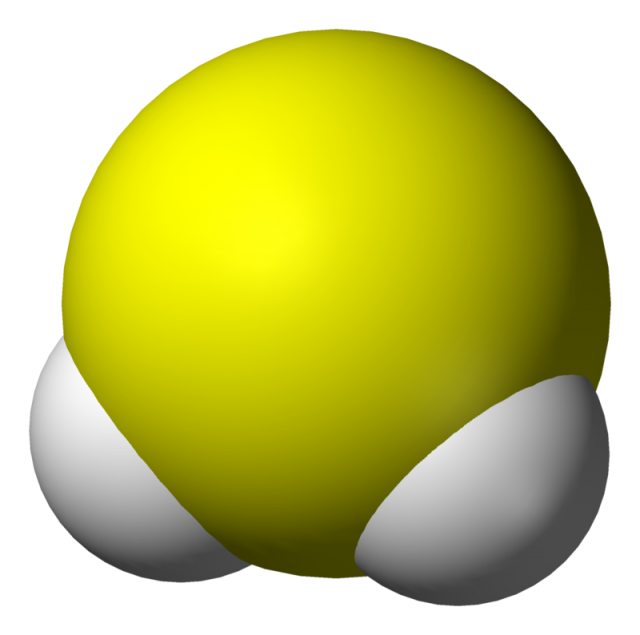 Sulfuro de hidrógeno o ácido sulfhídrico. Crédito: Ben Mills, Benjah-bmm27