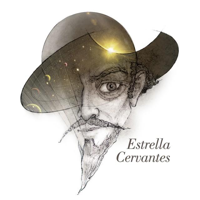 Logo de #YoEstrellaCervante, crédito Almudena M. Castro.