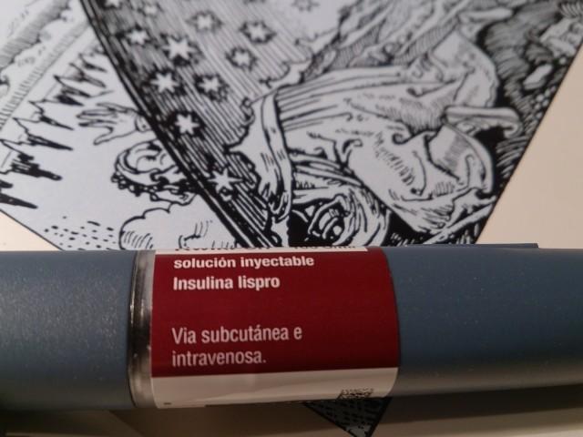 Detalle del inyector de insulina Humalog (Lispro). Imagen: Víctor Guisado Muñoz