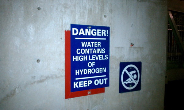warning water hydrogen