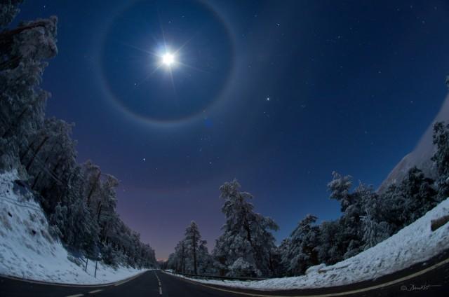 Doble halo lunar | Autor: Dani Caxete