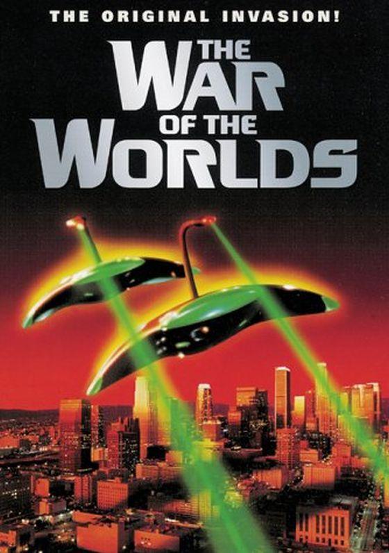 Cartel publicitario de La guerra de los mundos (1953). Compárese su forma con el dibujo realizado por el piloto S. Pardo Checa.
