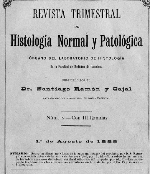 Revista trimestral de Histología normal y patológica