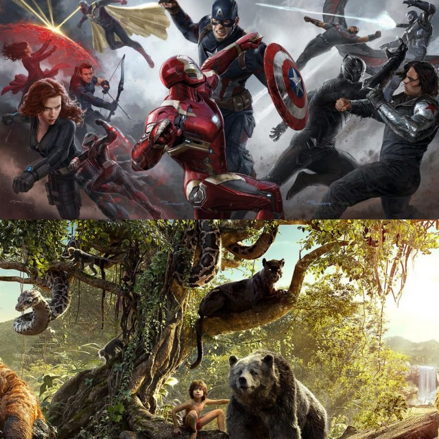 Los Vengadores, el Libro de la Selva  ¿y el pastelito?