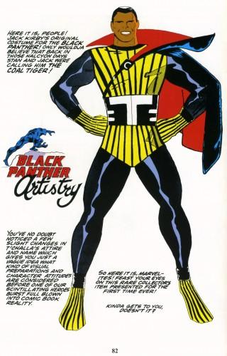 Primer diseño de Kirby para Pantera Negra, llamado Coal Tiger. Fuente