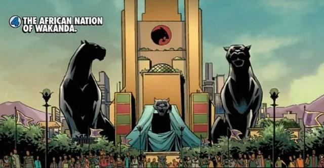 Estatuas de panteras negras en el reino de Wakanda. Fuente
