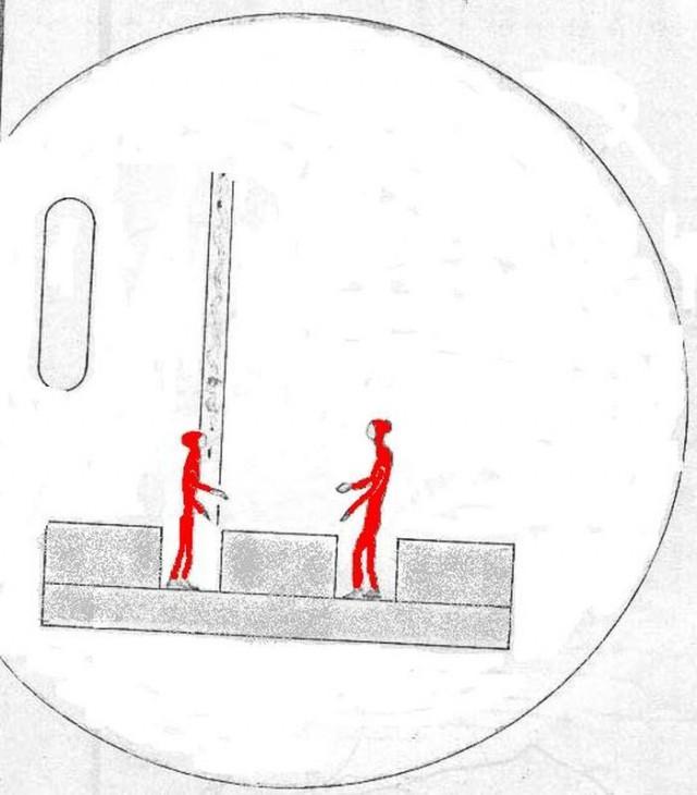 Imagen artística que pretende representar la versión del fenómeno proporcionada por el médico F. J. Padrón. Figura en la página 90 del expediente desclasificado por el Ejército del Aire en julio de 1994 (Ejército del Aire)
