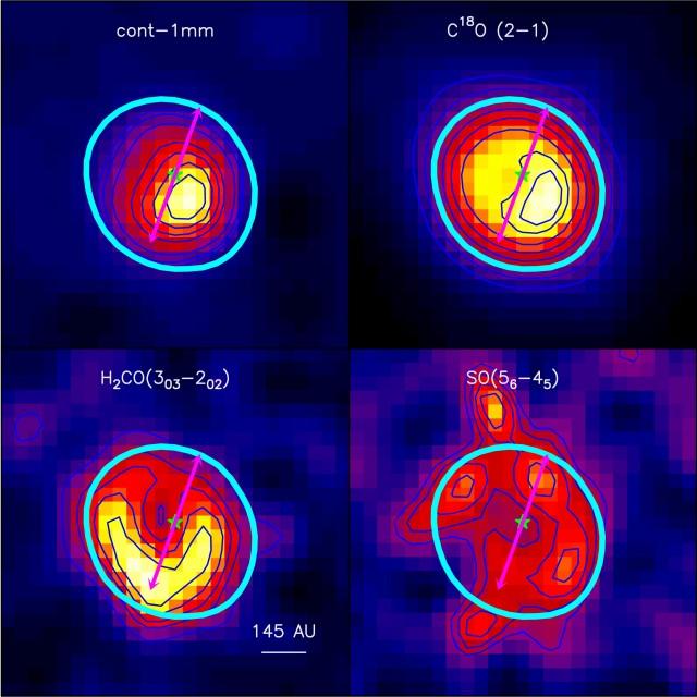 Imágenes de NOEMA del disco de transición de la estrella AB Aurigae.