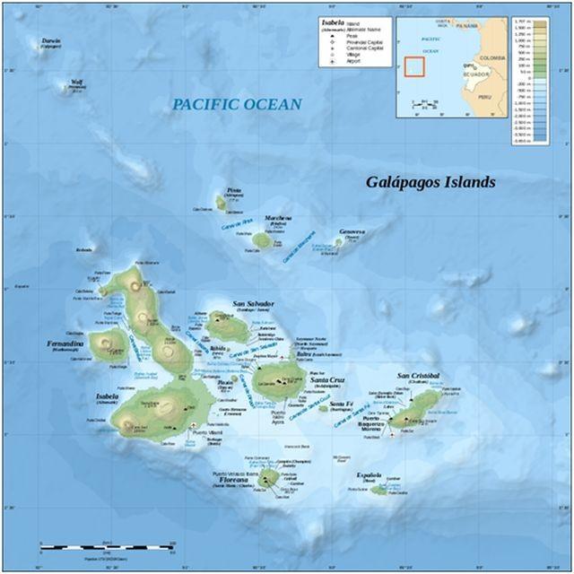 El archipiélago de las Galápagos