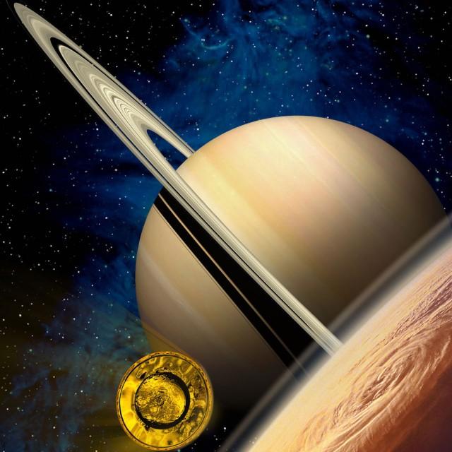 Entrando en la atmósfera superior de Titán (fuente: ESA).